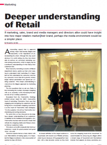 Marketing: Deeper Understanding of Retail